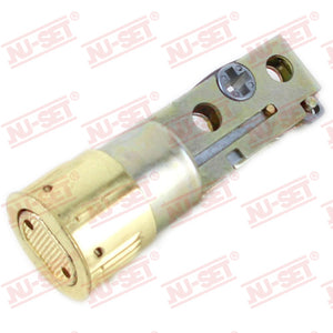 NuSet Backset Adjustable Deadbolt Drive In Latch (Brass)
