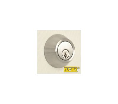 NuSet Schlage Keyed Commercial Grade 2 Single Cylinder Deadbolt (Satin Stainless Steel)
