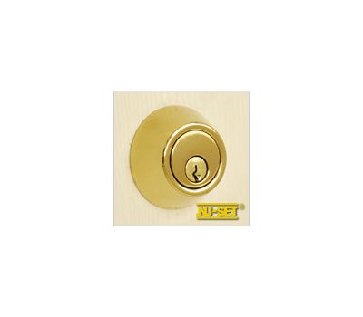 NuSet Schlage Keyed Commercial Grade 2 Single Cylinder Deadbolt (Lifetime Brass)