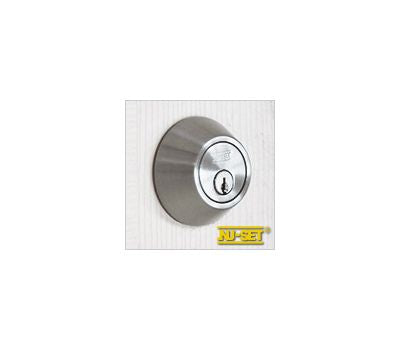 NuSet Kwikset Keyed Double Cylinder Deadbolt (Satin Stainless Steel)