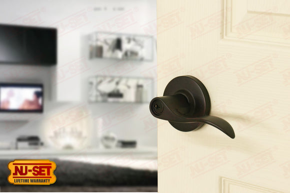 NuSet Abbey: Schlage Keyed Entry Door Lever (Oil Rubbed Bronze)