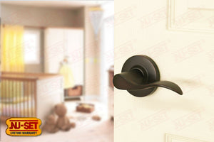 NuSet Abbey: Passage Lever (Oil Rubbed Bronze)