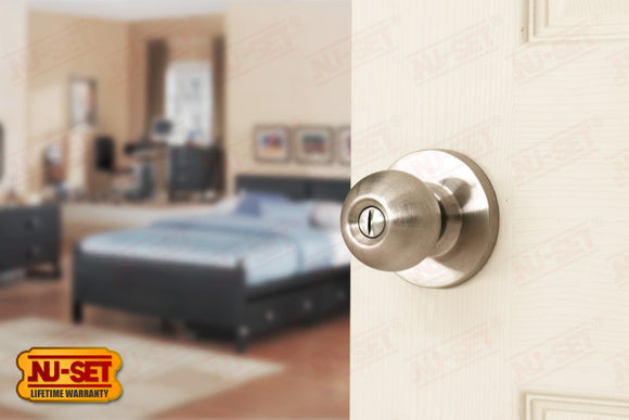 NuSet Berkeley: Privacy Knob (Satin Stainless Steel)