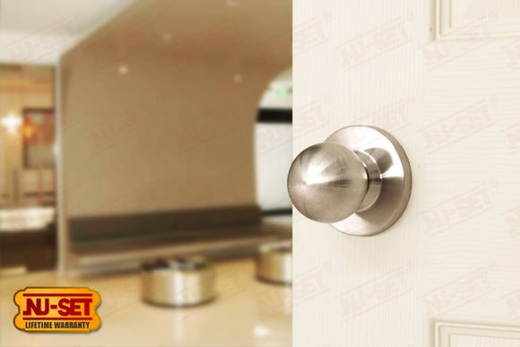 NuSet Berkeley: Passage Knob (Satin Stainless Steel)