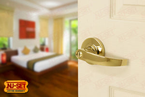 NuSet Chelsea: Privacy Lever (Lifetime Brass)