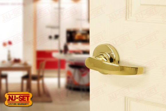 NuSet Chelsea: Passage Lever (Lifetime Brass)