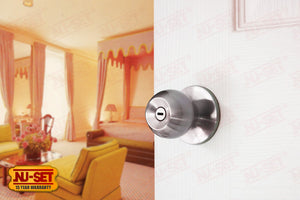 NuSet Dana: Privacy Knob (Satin Chrome)