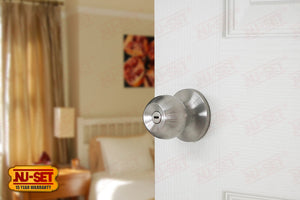 NuSet Dana: Privacy Knob (Satin Stainless Steel)