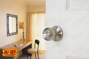 NuSet Dana: Passage Knob (Satin Stainless Steel)