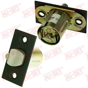 "NuSet 2-3/8"" Backset Entry Latch, Square Corner, Oil Rubbed Bronze, UL Listed"
