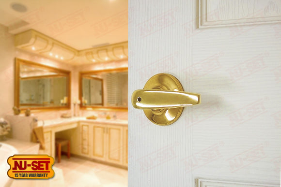 NuSet Napa: Privacy Lever (Brass)