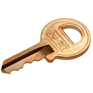 NuSet Padlock Key, 4 Pin, Brass