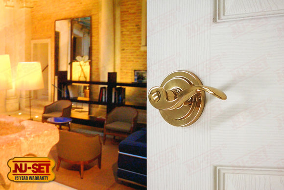 NuSet Santa Fe: Passage Lever (Solid Brass)