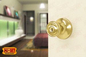 NuSet Builder Special: Keyed Alike Entry Door Knob (Brass)