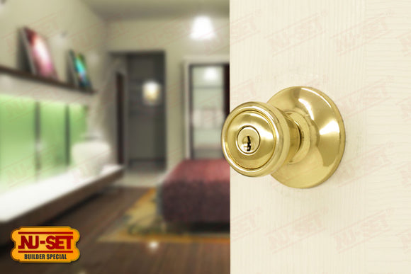 NuSet Builder Special: Kwikset Keyed Entry Door Knob (Brass)