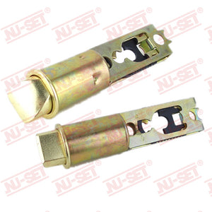 NuSet Backset Adjustable Entry Drive In Latch (Brass)