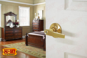 NuSet Tustin: Privacy Lever (Brass)