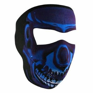 Full Mask Neoprene Blue Chrome