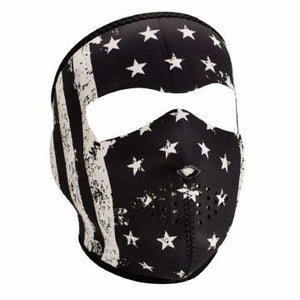 Full Mask Vintage Flag Bk & Wh