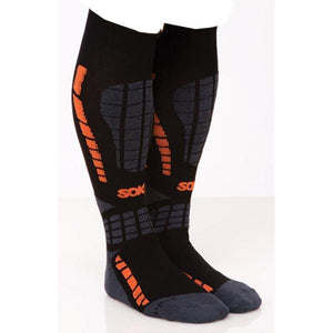 SOKz Ceramic Socks Blk/Orange