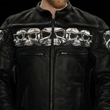 Men's Savage Skulls Jacket Bk