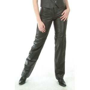 Ladies Jean Style Leather Pant