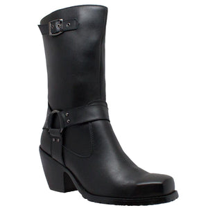 Ladies Heeled Harness Boot