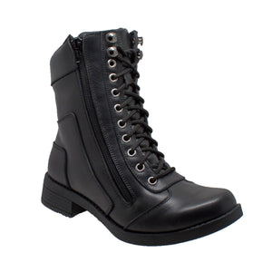 Ladies Zipper Biker Boot Black