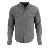 Men's Armored Denim Biker Shirt w/ Aramid® by DuPont™ Fibers