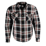 Men's Armored Flannel Biker Shirt w/ Aramid® by DuPont™ Fibers