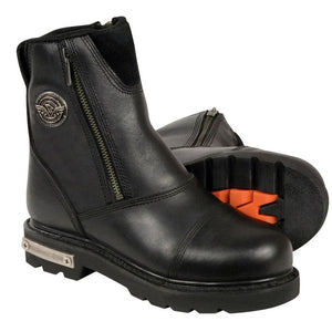 Ladies Double Zipper Boot Bk