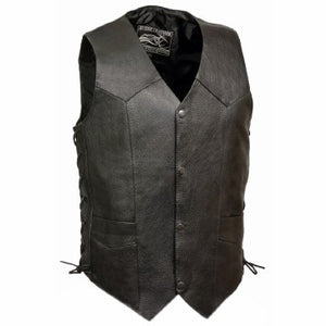 Men's Basic Side Laced Vest Bk