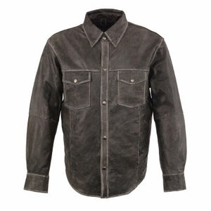 Men's Leather Shirt Dsgry