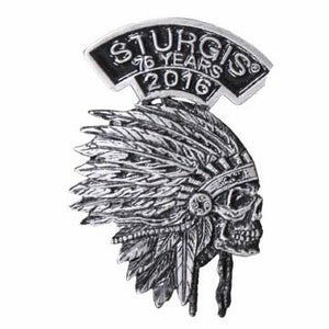 Sturgis Indian Headdress Pin