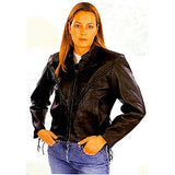 Ladies Braided Leather Jacket