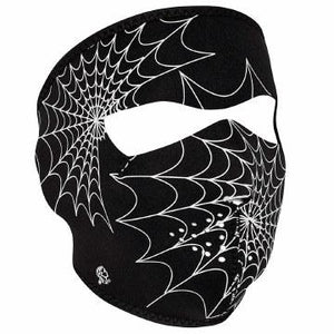 Full Mask Glow Spider Web
