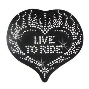 Helmet Bling Live To Ride Bk
