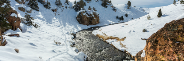 Fishing on banks of ice river - Luksea wearable safety device blog