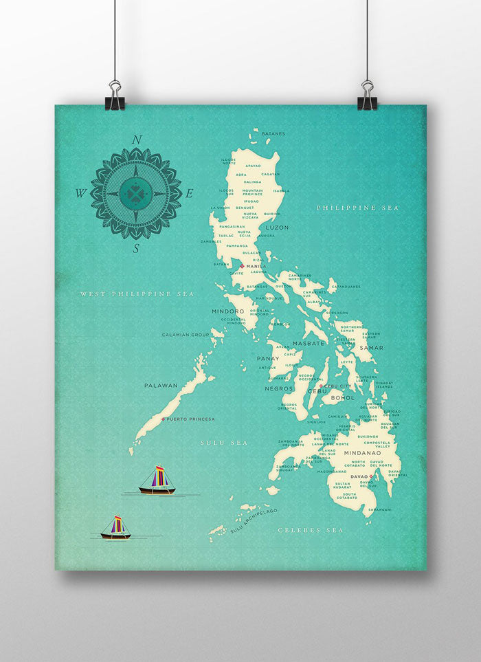 VINTA Map of the Philippines Art Print