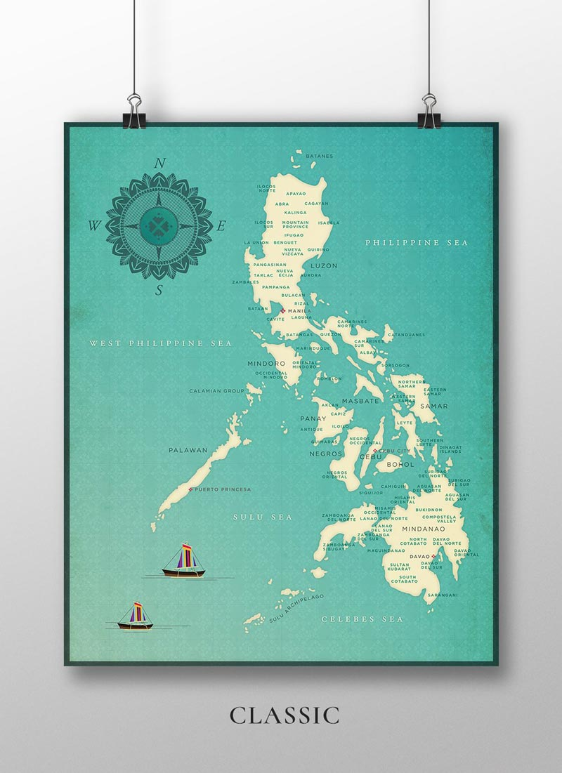 VINTA Map of the Philippine by CMANGO Design - Classic