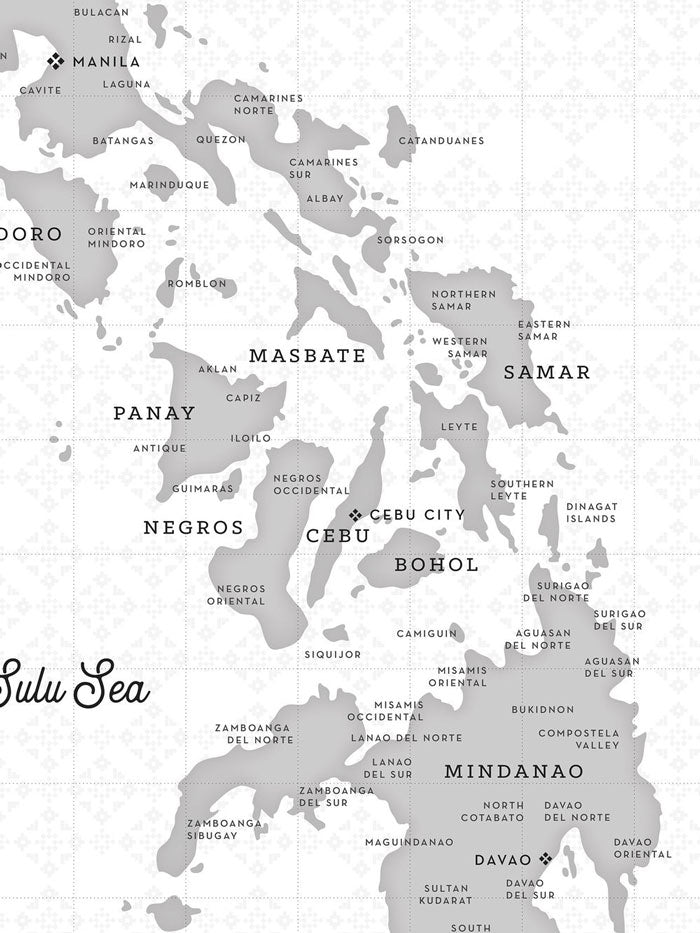 VINTA Map of the Philippines - Haze Close-up