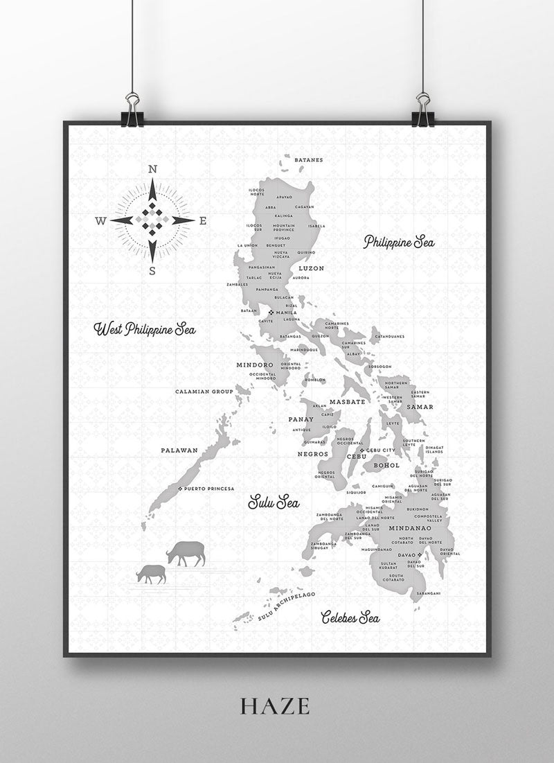 VINTA Map of the Philippine by CMANGO Design - Haze