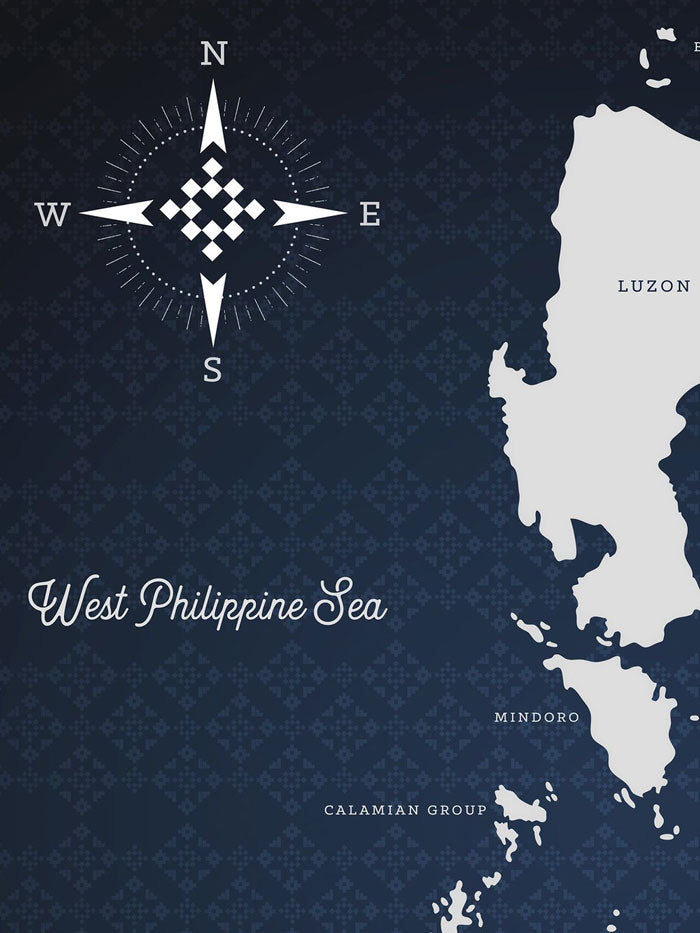 VINTA Map Of The Philippines - Indigo (1st Edition)