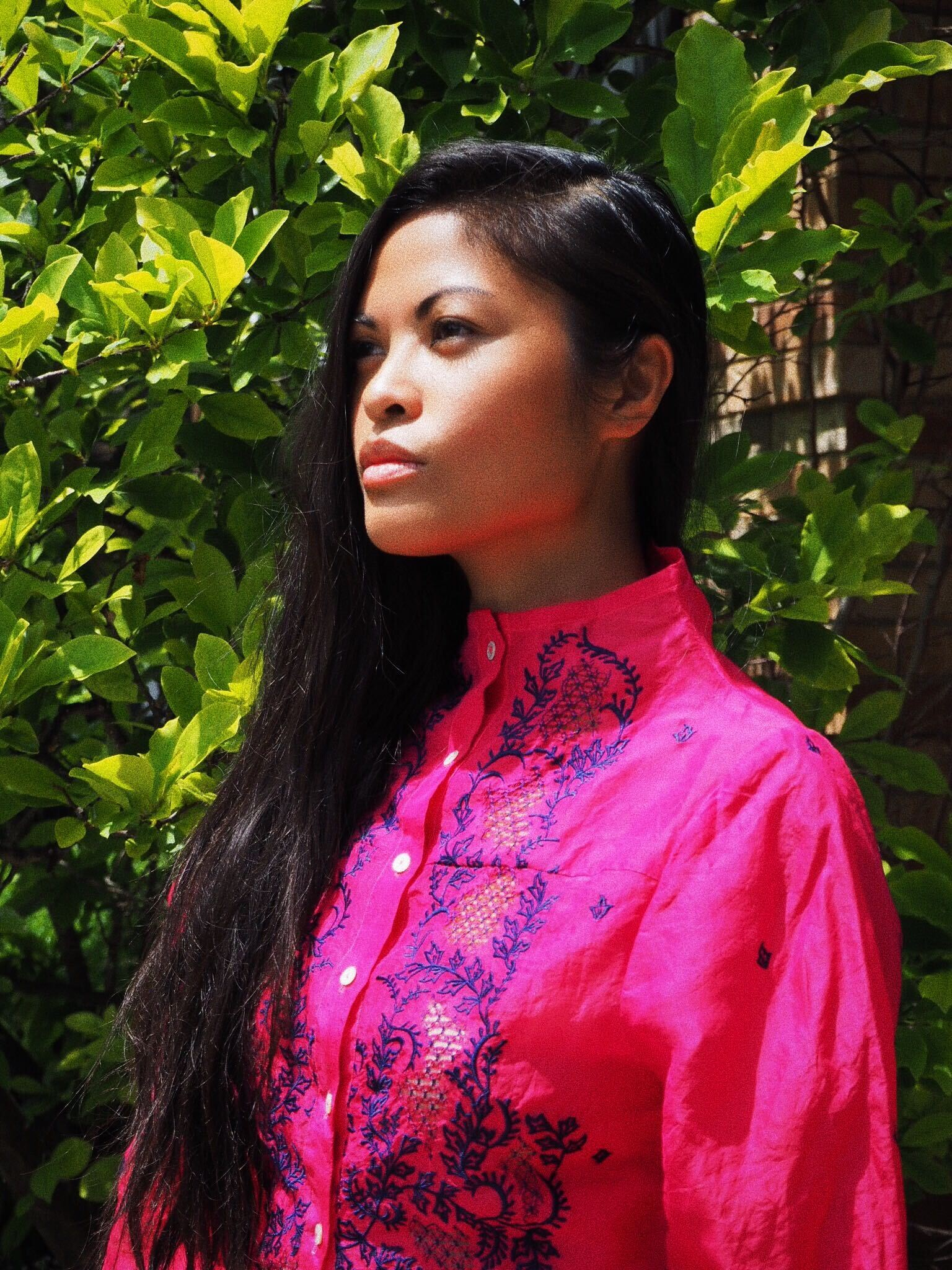 High Neck Crop Barong
