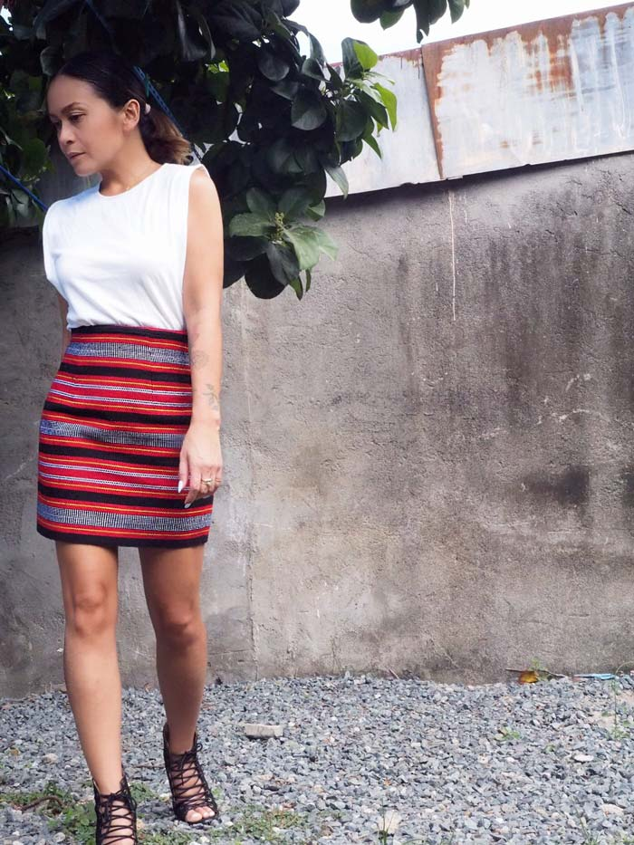 VINTA Handloomed Ifugao High Waist Mini Skirt