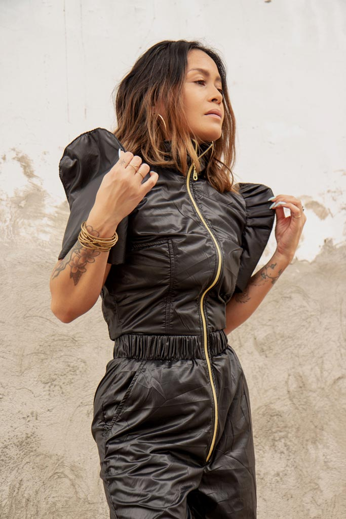 VINTA Terno Jumpsuit Dos in Black
