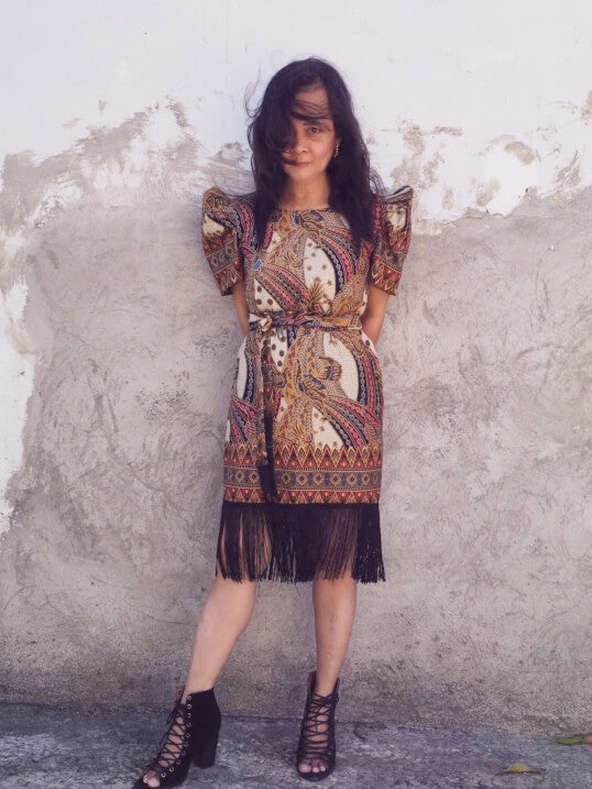 VINTA Batik Fringe Terno Dress