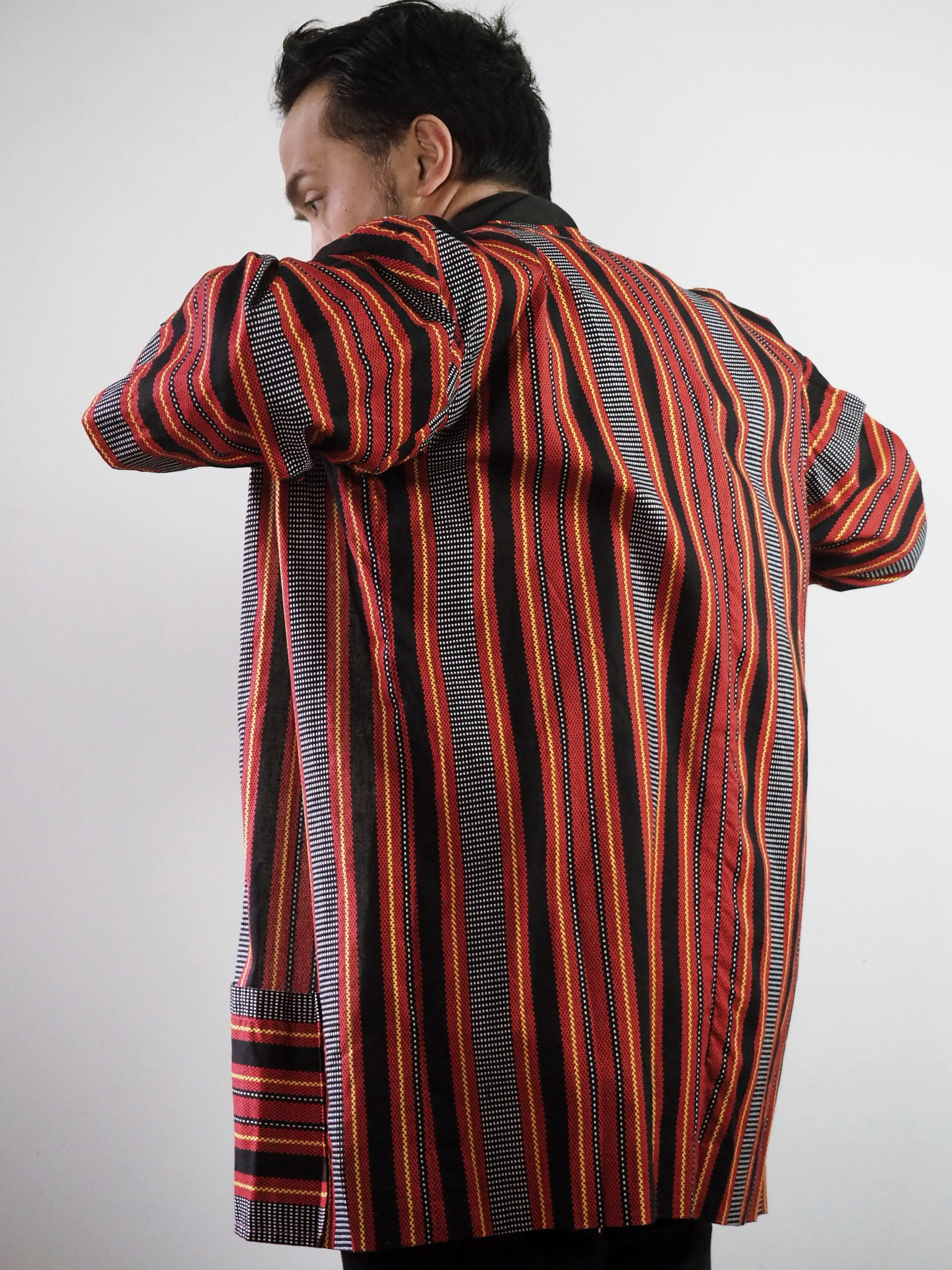 VINTA Unisex Printed Ifugao Jacket on Darrel Back View