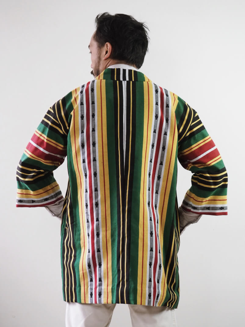 VINTA Unisex Kalanguya Jacket on Darrel Back View