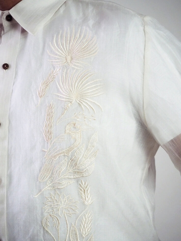 VINTA Classic Barong Embroidery Detail